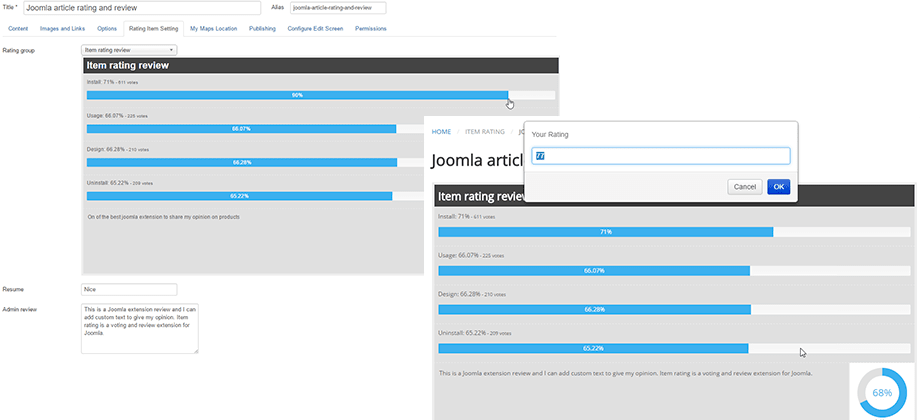 frontend admin review